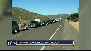 Oregon Eclipse traffic already bad - Video