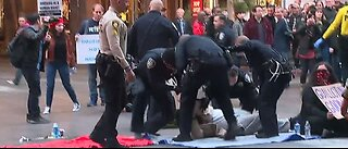 Several people arrested during protests against Las Vegas homeless ordinances