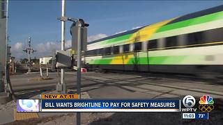 Bill wants Brightline to pay for safety measures - Video