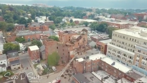 Drone Video Shows Collapsed Poughkeepsie Building
