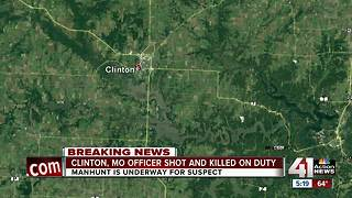 Manhunt underway, Clinton police officer dead in traffic stop shooting - Video