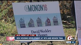 Housing project at 16th Street and the Monon Trail breaks ground - Video