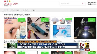 Be careful buying from foreign retailers online