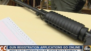 Gun registration applications in Maryland go online - Video