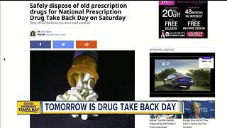 Safely dispose of old prescription drugs for National Prescription Drug Take Back Day on Saturday - Video