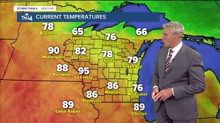 Hot temperatures move in Wednesday