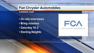 Fiat Chrysler Automobiles career fair at Sterling Heights Assembly Plant - Video