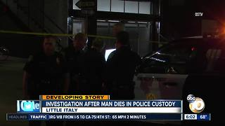 Investigation after man dies in San Diego police custody