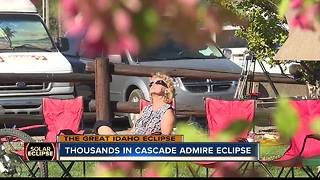 Cascade Solar Eclipse Crowds - Video