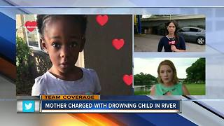 DCF releases documents of prior investigation into mother who allegedly drowned daughter in river, 6 p.m. show - Video