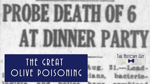 """The """"Great Olive Poisoning"""" of 1919"""