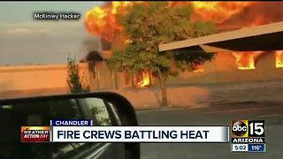 Fire crews battling extreme heat on calls across the Valley - Video