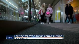 Busy day for post-Christmas shopping and returns - Video