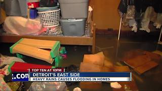 Heavy rains cause flooding on Detroit's east side - Video