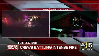 Two houses catch fire in Sunnyslope neighborhood - Video