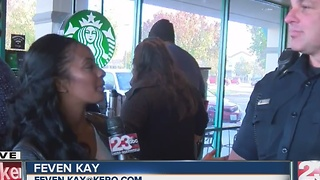 BPD host Coffee with a Cop at Starbucks - Video