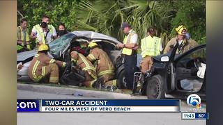 2-car crash in Indian River County - Video