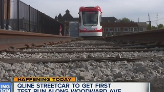 QLINE streetcar to get first test run along Woodward - Video