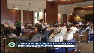 Packers Community Blood Drive - Video