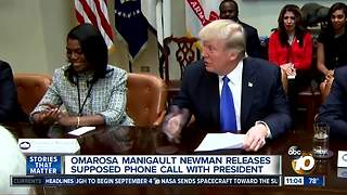 Omarosa releases supposed phone call with President Trump