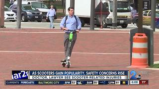 Electric scooters causing safety concerns