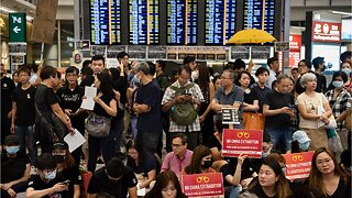 Thousands of protesters gather at Hong Kong's airport