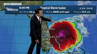 Tropical Storm Isaias - 6pm update