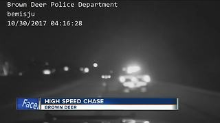Battery thief leads Brown Deer police on high speed chase - Video
