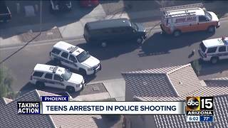 Teens arrested in police shooting in Phoenix - Video