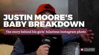 Justin Moore's baby breakdown | Rare Country - Video
