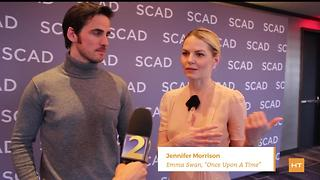 Jennifer Morrison and Colin O'Donoghue chat about 'Once Upon A Time' | Hot Topics - Video