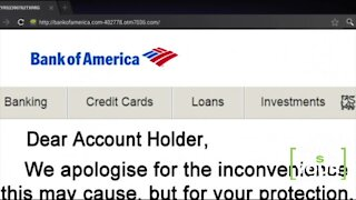 Bank text claims your account is locked for fraud
