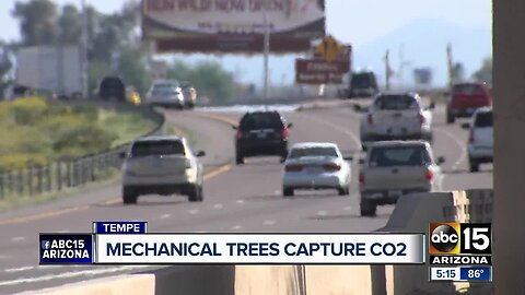 "ASU researchers behind a new push for ""mechanical trees"" to help capture CO2"