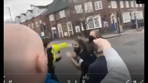 Feb 7th Manchester England UK Burnage Cafe Police Officer Punched Man Covid-19 Coronavirus Lockdowns