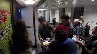 James and Dave Franco greet fans in London - Video