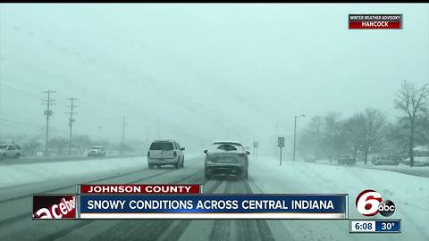 Folks in Johnson County are wondering where spring went with snow falling
