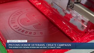 Pistons honor veterans, create t-shirt campaign with Vietnam hero