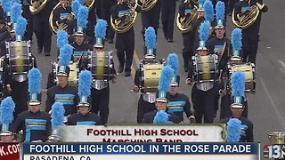 Foothill Marching Band performs in Rose Parade
