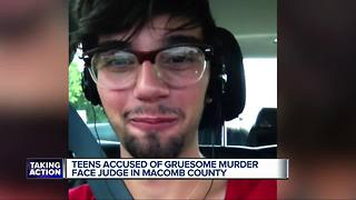 Teen accused of gruesome murder face judge in Macomb County - Video