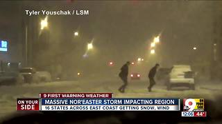 Massive nor'easter storm impacting region - Video
