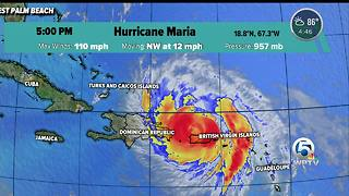 Hurricane Maria 5 p.m. advisory - Video