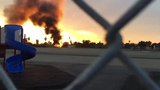 Witness video of plane crash in Clairemont | Video 1