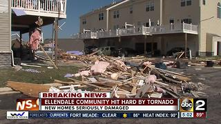 Ellendale Community hit hard by Tornado - Video
