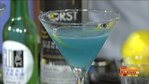 A Tasty Teal Cocktail for a Great Cause