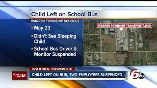 School bus monitor, driver suspended after child left on bus - Video