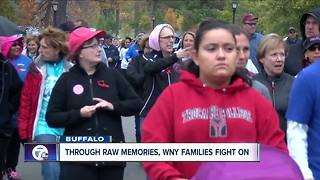 Through raw memories, WNY families fight on - Video