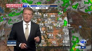 Scattered thunderstorms early tonight and again Tuesday afternoon - Video