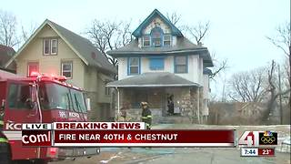 KCFD rescues one person from house fire in KCMO - Video