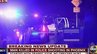 Passenger shot and killed by police after traffic stop - Video