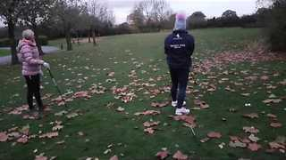 Golfer Lands Hole-In-One on Her First Ever Lesson - Video